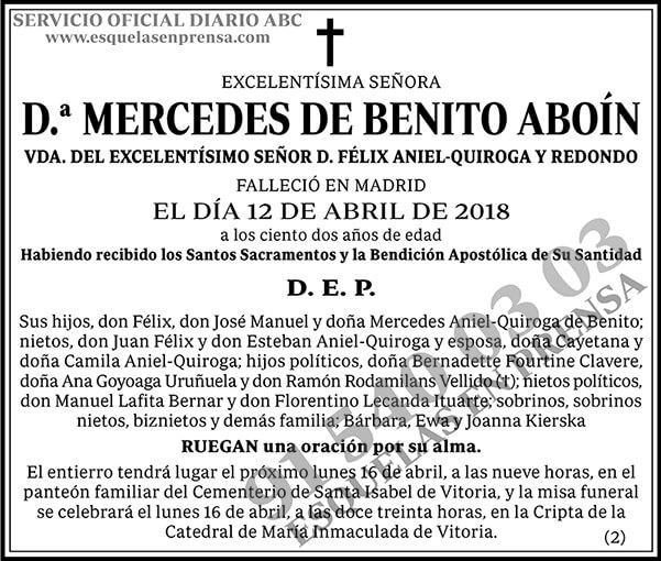 Mercedes de Benito Aboín